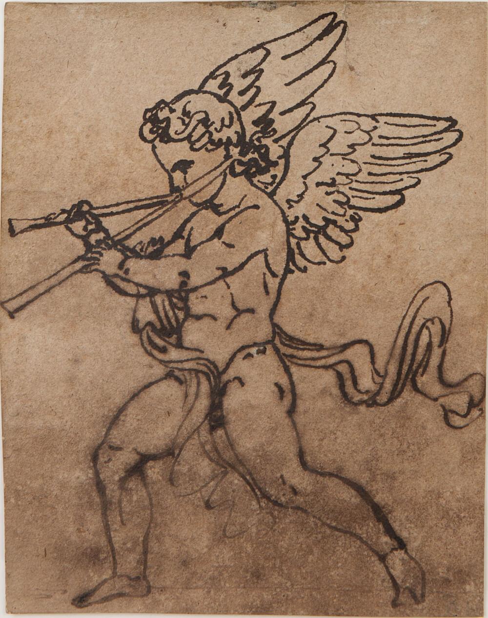 17- Bis Francois Rude (1784-1855), Angelots musiciens, dessins pre݁paratoires pour les de݁cors de la salle de bal du Palais royal de Bruxelles, circa 1816-1827, n.2