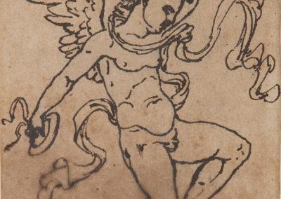 17. Francois Rude (1784-1855), Angelots musiciens, dessins pre݁paratoires pour les de݁cors de la salle de bal du Palais royal de Bruxelles, circa 1816-1827, n.1